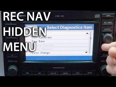 How to enter hidden diagnostics menu in REC Navi (MOPAR Dodge Chrysler Jeep GPS)