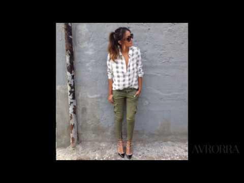 Модные женские брюки карго  — С чем носить?