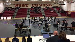 JBHS West Covina winter drumline competition