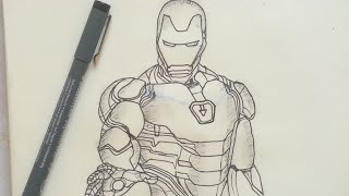 How to Draw IRON MAN (Avengers: Endgame) | Easy Step-by-Step