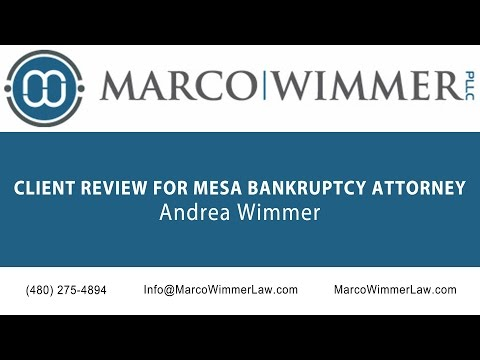 Client Review For Mesa Bankruptcy Attorney Andrea Wimmer