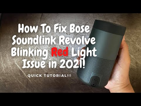 How To Fix Flashing Red Light On Bose Soundlink Revolve in 2021!!