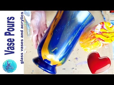 VASE ACRYLIC POUR - Decorative Pour Over Glass Vases Without Silicone / Easy And Simple Technique