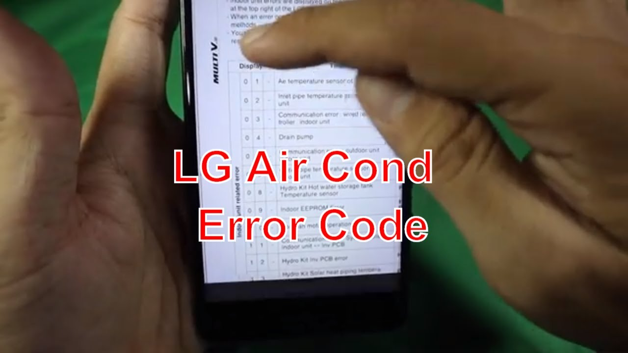 How To Check Error Code On Lg Air Conditioner You