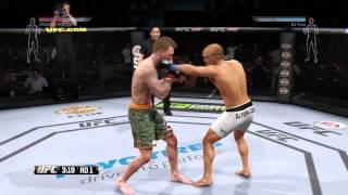 EA UFC BJ بن (علي) مقابل إنشاء مقاتلة (100% احصائيات) على الانترنت