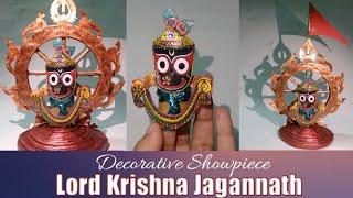 #3dPaperIdol Of Lord Krishna Jagannath On Sudarshan Chakra Showpiece  #Puriজগন্নাথCraft  CRAFTSWOMAN