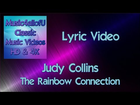 Judy Collins - The Rainbow Connection (HD Lyric Music Video) Elektra Records 45 Vinyl Single Demo
