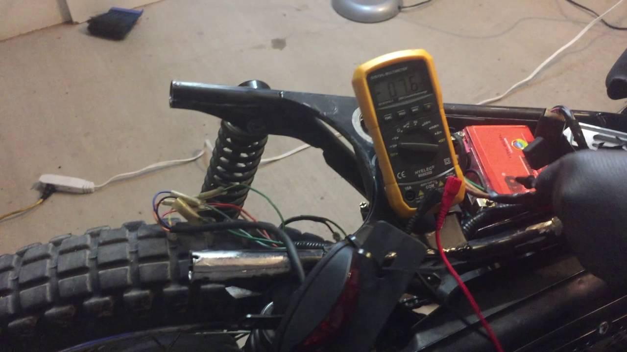 6v To 12v Conversion 76 Honda Mt250 Youtube Wiring Diagram