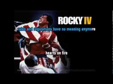 Hearts on Fire (Rocky 4) - Karaoke with Lyrics on Screen