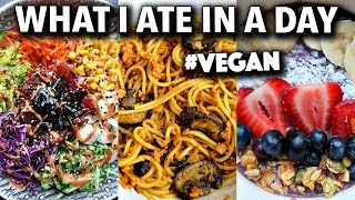 What I Ate in a Day (Cooking with Left Overs) #VEGAN