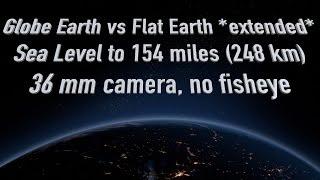 Flat Earth vs Globe Earth 0-154 miles  (Cape Canaveral, Florida)