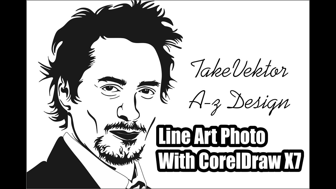 Line Drawing Editor : Line art photo with coreldraw cara membuat