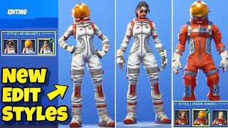*NEW* EDIT STYLES FOR MOONWALKER & MISSION SPECIALIST SKIN SHOWCASE! Fortnite BR (New Skin Styles)