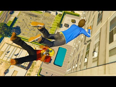 GTA 5 CRAZY Jumps/Falls Compilation #18 (GTA 5 Fails Funny Moments) thumbnail