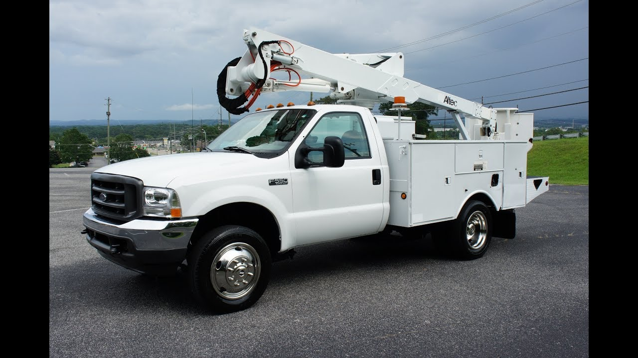 2002 Ford F550 Bucket Boom Truck 7 3 Diesel 4x4 For Sale
