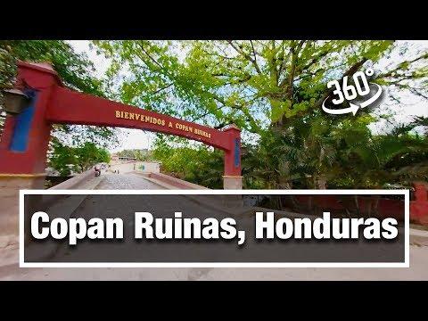 4k City Walks:  Copan Ruinas, Honduras [The Town] in 360