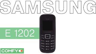 Samsung E1202i - доступный телефон на 2 SIM-карты - Видеодемонстрация от Comfy(Кнопочный телефон Samsung E1202i отлично подойдет для осуществления и приема звонков. Телефон выполнен в классич..., 2015-02-13T10:45:18.000Z)