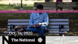 CBC News: The National | Pandemic's physical and mental toll; WestJet pulls routes | Oct. 14, 2020