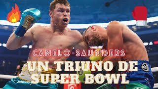 CANELO ALVAREZ vs BILLY JOE SAUNDERS, un triunfo como si fuera un SUPER BOWL