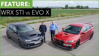 Subaru Impreza WRX STI Cosworth CS400 VS Mitsubishi Lancer EVO X FQ400 w/ DRAG RACE
