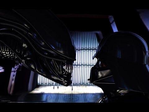 Star Wars Episode 4 Aliens vs Darth Vader - YouTube