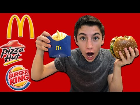 "Eating American Fast Food Restaurants In Israel! - ""Eitan Explores Israel"" (E:2)"