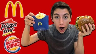 "TRYING AMERICAN FAST FOOD FOR THE FIRST TIME IN ISRAEL - ""Eitan Explores Israel"" (E:2)"