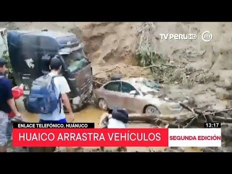 Caída de huaico deja 11 desaparecidos en Huánuco