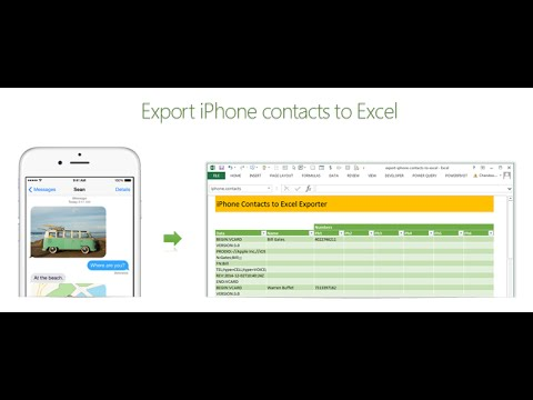 iphone contacts backup how to export iphone contacts to excel exceltutorials 11768
