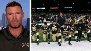 Former NFL player, vet calls for unity amid anthem protests thumbnail