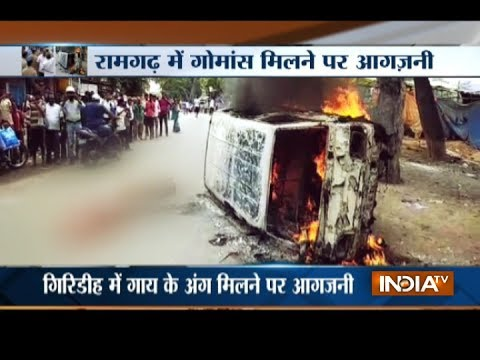 Man beaten to death in Jharkhand's Ramgarh district on suspicion of carrying beef in his vehicle