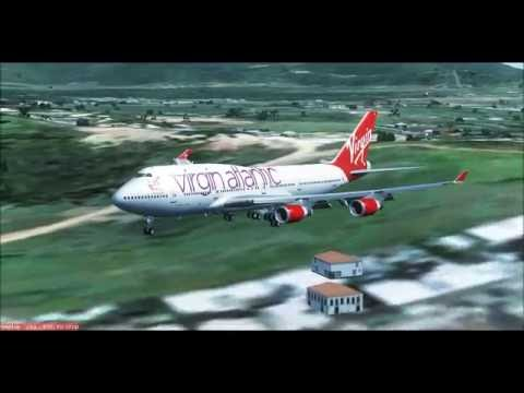 Virgin Atlantic Virtual - B747-400 Landing in Antigua