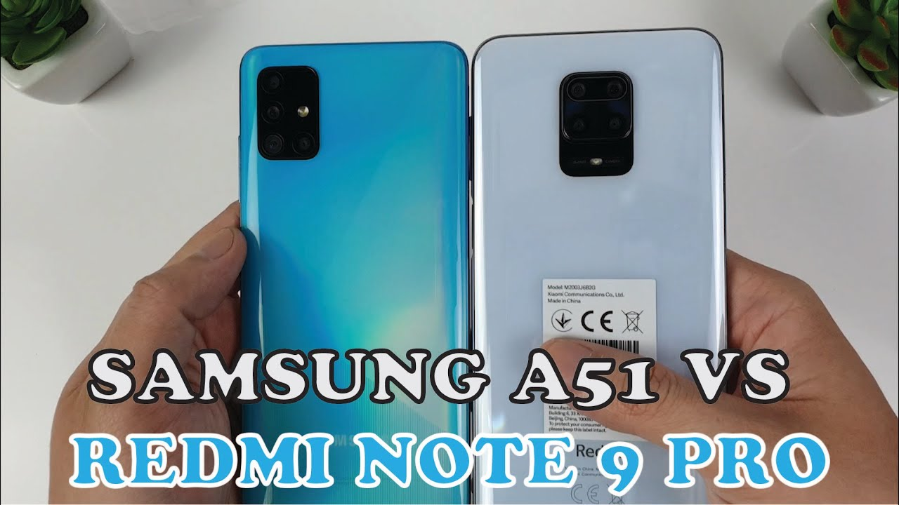 Redmi Note 9 Pro Vs Samsung Galaxy A51 Fingersprint Speedtest Camera Comparison Youtube