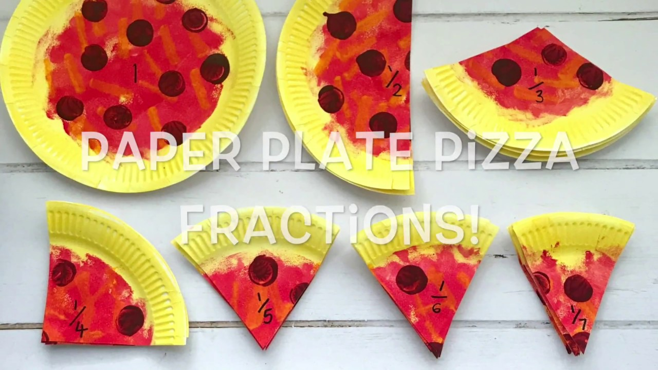 Paper Plate Pizza Fractions  sc 1 st  YouTube & Paper Plate Pizza Fractions - YouTube