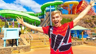 Worlds Biggest Island Adventure Water Park (Last to Fall Wins Game Master Treasure Chest Challenge)