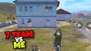 ME VS 7 TEAMS!!! | BEST RUSH GAMEPLAY EVER | PUBG MOBILE