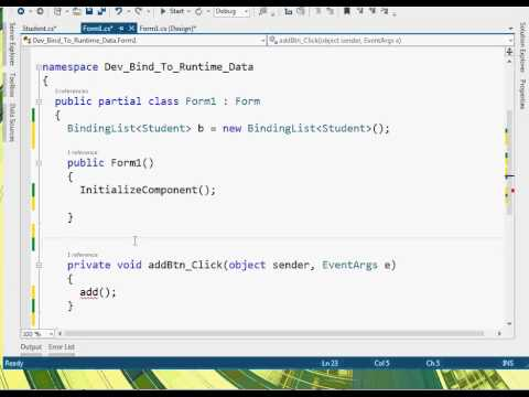 C# DevExpress Bind Grid To RunTime Data