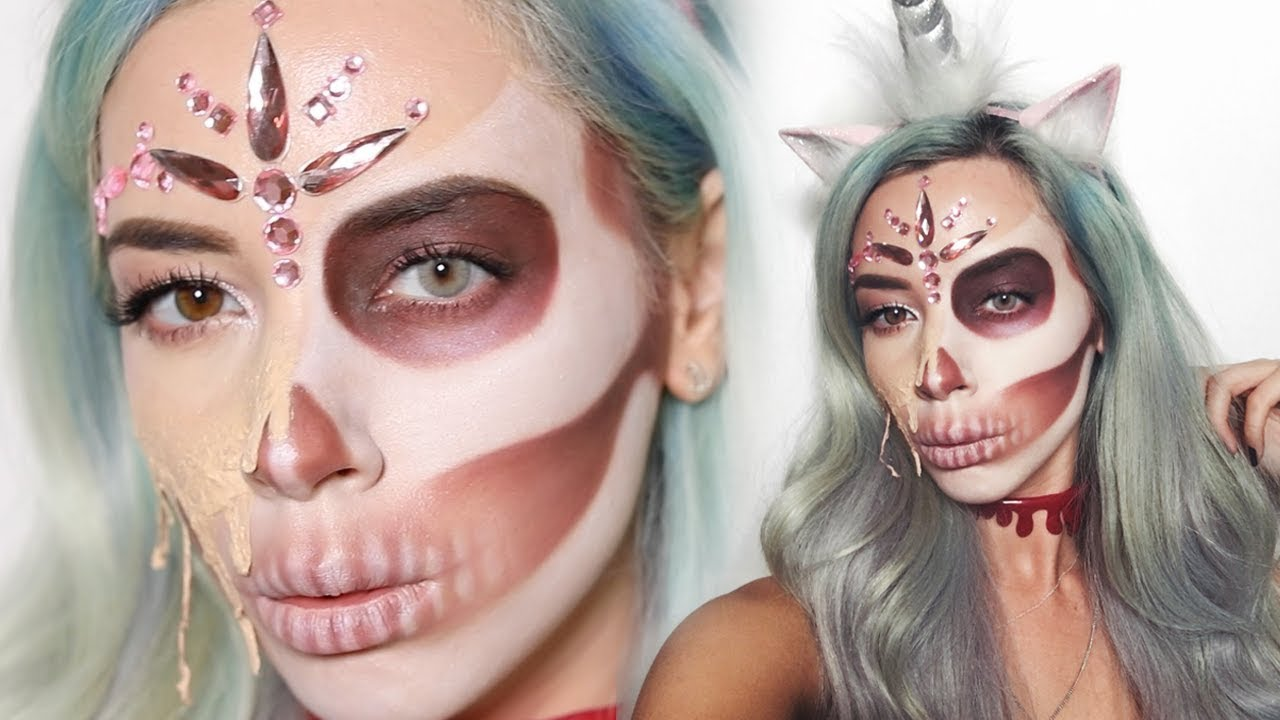 foto de Dead Unicorn Halloween Melting Skull Makeup Tutorial LLimWalker YouTube