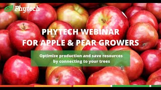Phytech Webinar for Apple & Pear growers hosted By Mark Heyward