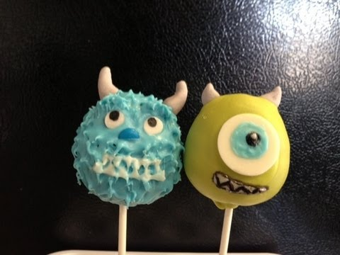 How to make Monsters Inc Cake Pops YouTube
