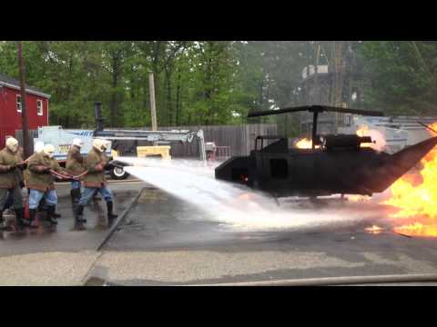 MSC Firefighting Helo Fire Video 2