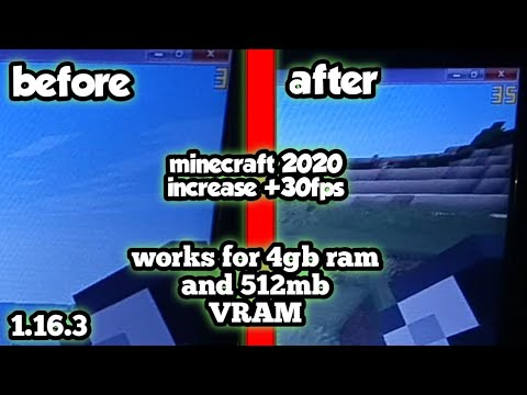HOW TO SIGNIFICANTLY INCREASE FPS IN MINECRAFT JAVA 1.16.3 - intel celeron B820 1.7ghz