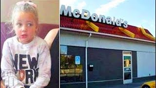 Girl Rushes Out Of McDonald