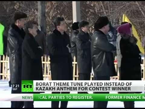 Borat blunder? Parody anthem greets Kazakh athletes in Kuwait