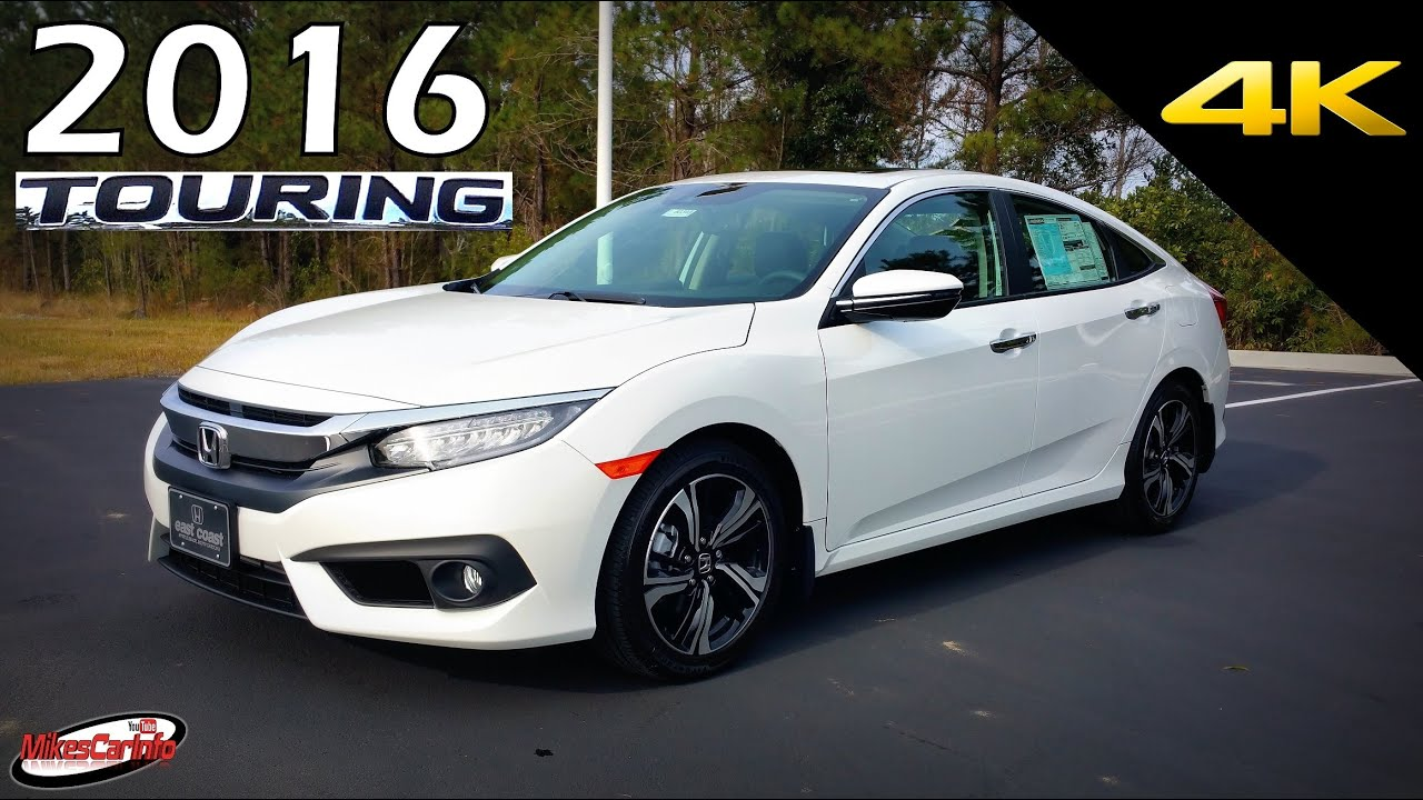 2016 honda civic touring ultimate in depth look in 4k. Black Bedroom Furniture Sets. Home Design Ideas