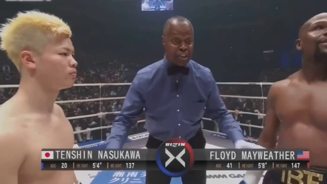 Floyd Mayweather vs Tenshin Nasukawa Full Fight TKO KO stoppage - YouTube