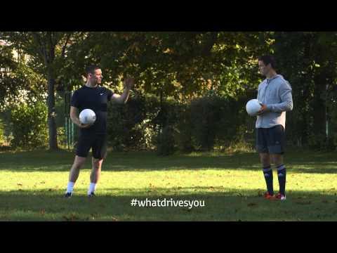 Stephen Cluxton coaches Johnny Sexton - #WhatDrivesYou