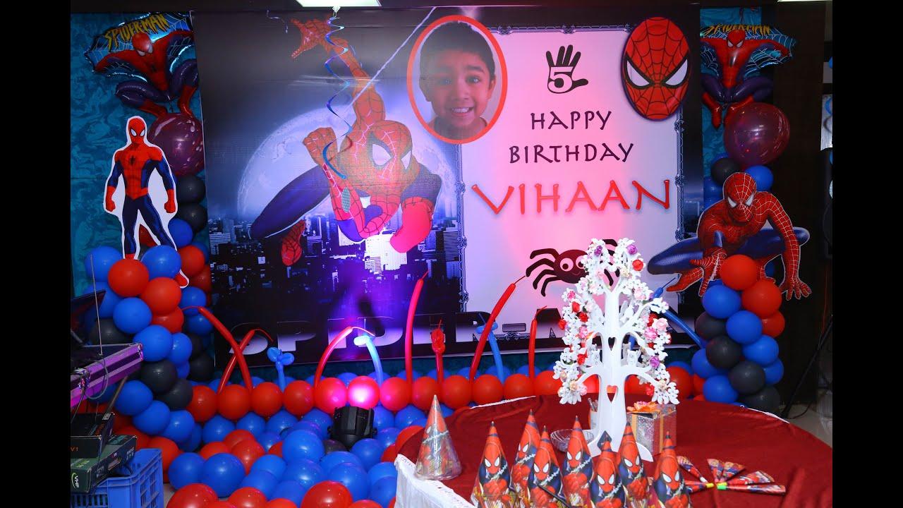 Spiderman Theme Birthday Party