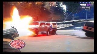 Mejor partida-GTA V (epicos choques reales de autos)