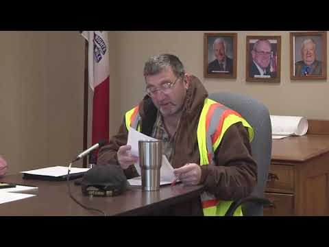 Mahaska County Board Supervisors Meeting for April 4, 2018